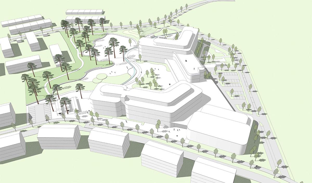 Illustrerad skiss över Hemlingbyområdet