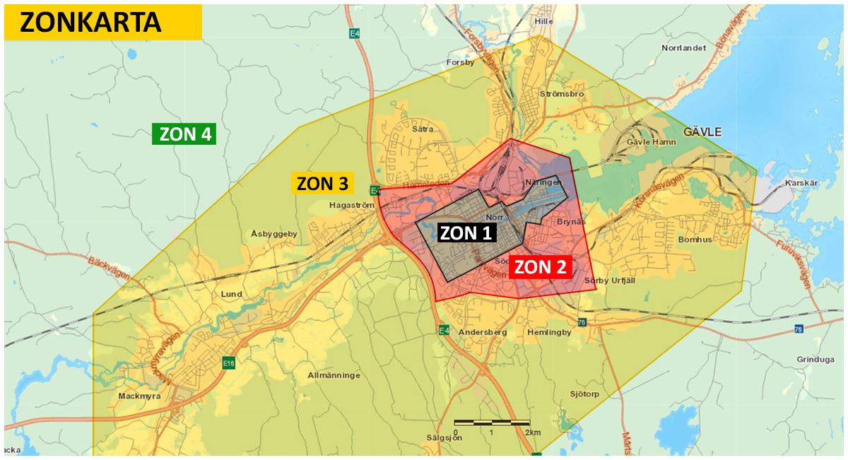 Karta zoner