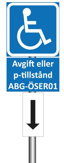 Skylt för parkering för rörelsehindrade